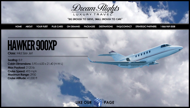 Dream Flights Luxury Travel Home Page
