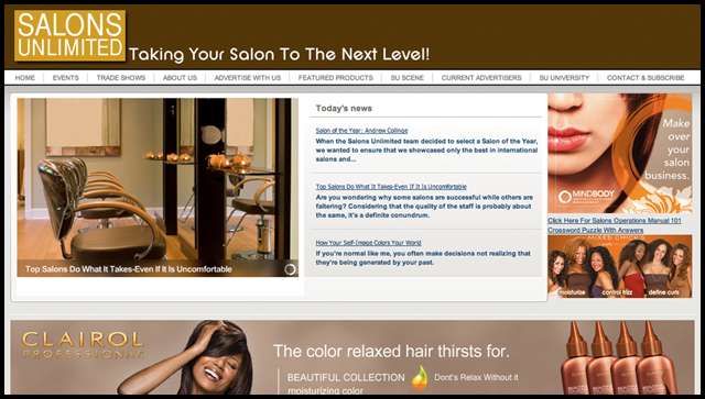 Salons Unlimited Magazine Home Page