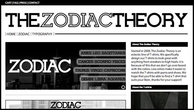 The Zodiac Theory Home Page