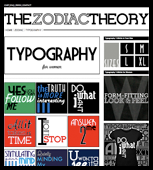 The Zodiac Theory Typography T-Shirts